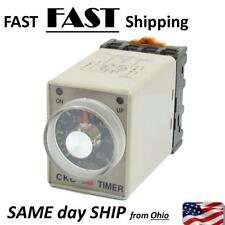 0-6 Minutes 8 Pin Plastic Housing Delay Timer Time Relay DC 12V AH3-3 w V2I4