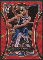2019-20 Select PREMIER LEVEL Prizms T-Mall RED WAVE #162 Ben Simmons 76ers