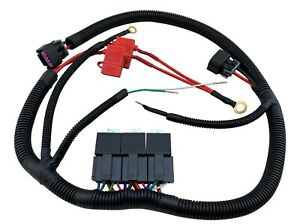 ECU Control Dual Electric Fan Upgrade Wiring Harness Kit for 96-06 GM Truck SUV