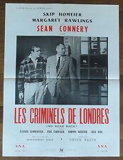 Affiche Cinéma LES CRIMINELS DE LONDRES. Cinema Movie Poster. Sean CONNERY.
