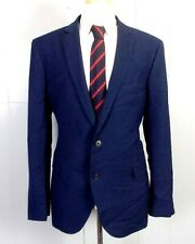 euc Nordstrom Rack Navy Blue Rayon Wool Blend Sportcoat Blazer dual vents 46 R