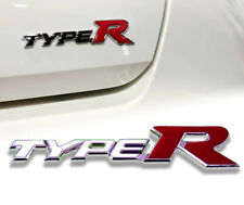 CHROME RED TYPER LOGO EMBLEM BADGES DECAL PLATE FIT FOR ALL HONDA CIVIC
