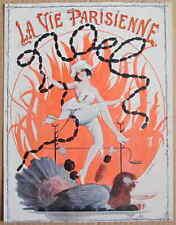 Di Fontan VINTAGE 1920 LA VIE PARISIENNE stampa Natale Cook danza Turchia salsicce