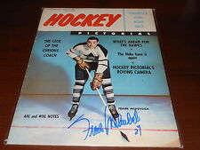 Frank Mahovlich Autograph Original October 1958 Hockey Pictorial Signed Magazine