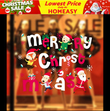 Fox Santa Christmas Wall Decals Vinyl Window Sticker Removable Xmas Decor DIY