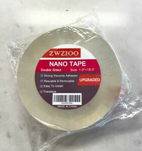 """Clear Nano Double-Sided Adhesive Traceless Tape Removable Sticky Gel Tape 1""""x18'"""