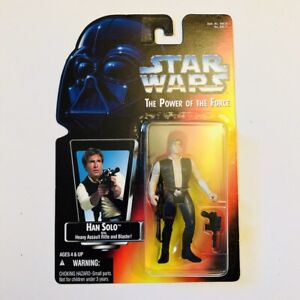 HAN SOLO Star Wars Power Of The Force 2 POTF2 1995 Red/Orange Card .00 MOC!!