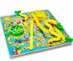 3D Snakes and Ladders Board Game Family Traditional Children Games Xmas Gift Uk