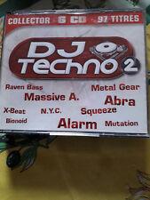 RARE / DJ TECHNO N° 2 : LES MEILLEURS DJ' S ( COFFRET 6 CD / 97 TITRES - DANCE