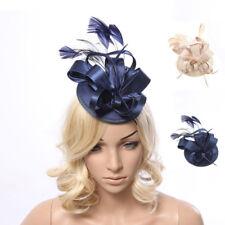 Large Hat Feather Fascinator Hat Clip Hatinator Veils Wedding Race Royal Ascot