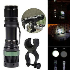 3000LM Zoomable CREE XML Q5 LED Flashlight Bike Front Head Light with 360° Mount