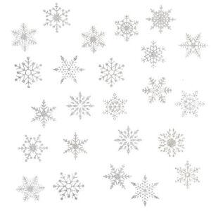 Schneeflocken Schnee Sticker weihnachtliche Winter Aufkleber Weihnachtsdeko