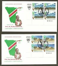 UN Vienna #114-115 Namibia (2) Artmaster MIB4FDCs
