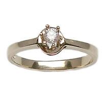 Anello per fidanzamento solitario in oro bianco 18 kt 750% con diamante naturale