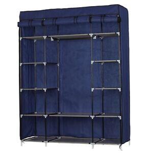 5-Layer 12-Compartment Non-woven Fabric Wardrobe Portable Closet