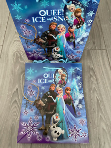 JOB LOT DISNEY FROZEN LARGE GIFT BAGS TAGS 33 X 27 CM GIRLS GIFTS 8 QUALITY BAGS