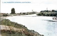 DA96. Vintage Postcard. Cathedral from the weir, Worcester.