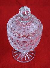 Kristall  Deckelpokal-Ätz-Kugel u. Kerb-Dekor-Höhe 22cm