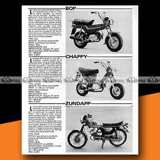 ★ YAMAHA BOP, CHAPPY & ZUNDAPP KS 50 ★ 1978 Essais Cyclos / Test #a258