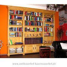 Bücherregal,Bibliothek,Bücherwand,Bücherschrank,Landhaussti,Massiv,Weichholz
