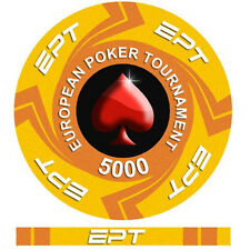 Fiches Ceramica EPT European Poker Tour Valore 5000 - Bordo Allineato