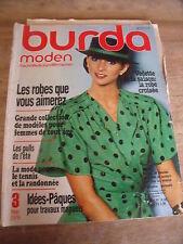 MAGAZINE BURDA MODEN VINTAGE EN VEDETTE LA ROBE CROISEE 03 / 1979