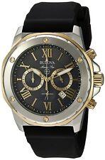 Bulova Silicone Chronograph Mens Watch 98B277