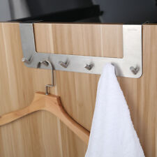 Over The Door 6 Hooks Hanger Bathroom Kitchen Space Saver Organizer