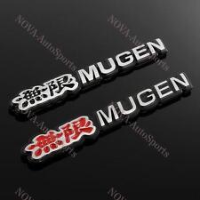 2PCS Car Trunk 3D Emblem Badge Sticker Decal MUGEN for HONDA CIVIC ACURA - Alumi