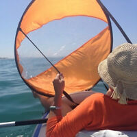 Kayak Popup Sail with Clear Window Downwind Rowing Tool Wind Sail for Canoe Boat