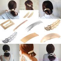 Simple Metal Hairpin Women Hair Clip Barrette Bobby Pin Girls Hairgrip Hair Acc