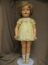 27 Inch Composition Shirley Temple, Flirty Eyes, Rare Dress, All Original