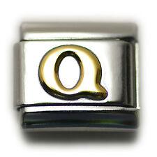 """Italian Charm Bracelet Alphabet Letter Link - LETTER """"Q"""""""