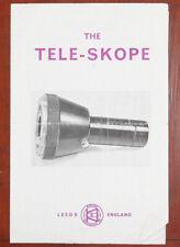 TELE-SKOPE OPTICAL ADAPTOR FOR CAMERA LENSES INSTRUCTION BOOK/162753