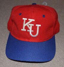 Vtg Kansas Jayhawks The Game Snapback Hat Glued Logo