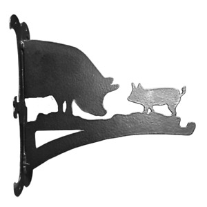 Profiles - Pig and Piglet Hanging Basket Bracket