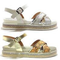 ALVIERO MARTINI 1 CLASSE Junior Geo scarpe sandali donna tessuto pelle sneakers