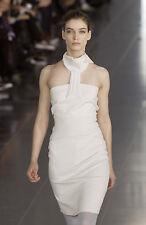 SOPHIA KOKOSALAKI Grey Twisted Neck Bandage Dress 40 4