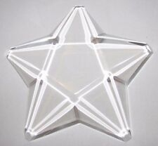 Vintage Like New Clear Star Lucite Paperweight Sculpture Beveled Edges (2436A)