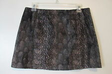 Guess Gray Animal Print Faux Fur Pink Lined Mini Skirt SIZE:28 NWOT