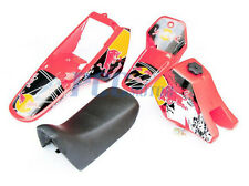 Yamaha PW80 PW COYOTE 80 TANK SEAT PLASTIC + DECALS GRAPHIC KIT RED I DE52+