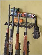 10 Gun Rack & Shelf Rifle Shotgun Ammo Shooting Gear Storage Organizer S