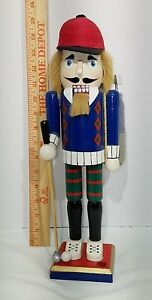"Christmas Golfer Nutcracker 15"" tall"