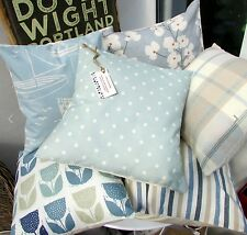 CUSHION COVER in CLARKE & CLARKE SPOTTY DUCK EGG  BLUE SHABBY CHIC  SPOTTED  16a