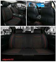 VW Toyota Fiat Housses de Siège Complet Auto Noir En Tissu Respirant
