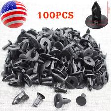 100pcs 8mm Black Plastic Rivets Fastener Push Fender Clips for Auto Car 7661855