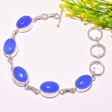 Bracelets Fashion Jewelry Blue Chalcedony Ethnic Jewelry Handmade Bracelet 24 Gms Lb-39168