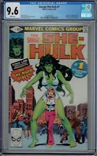 CGC 9.6 SAVAGE SHE-HULK #1 WHITE PAGES 1ST APPEARANCE SHE HULK 1980