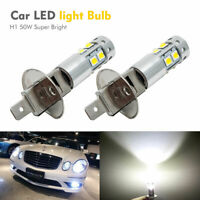 2x H1 6000K Super White 100W CREE LED Headlight Bulbs Kit Fog Driving Light