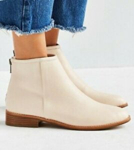 Urban Outfitters POPPY Cream White Flat Ankle Boots 7